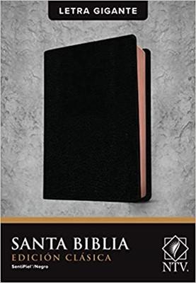 Biblia NTV Letra Gigante Negro (Tapa Suave)