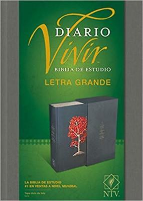 Biblia NTV Diario Vivir Letra Grande Gris (Tapa Dura)