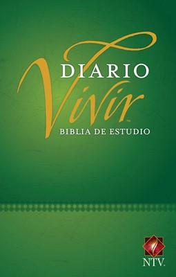 Biblia NTV de Estudio Diario Vivir Tamaño Personal Verde (Tapa Dura)