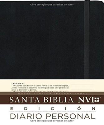 Biblia NVI Diario Personal Negro (Tapa Dura)