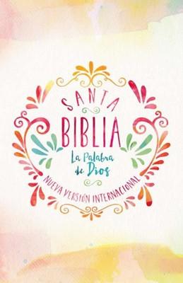 Biblia NVI Económica Acuarela (Tapa Rustica)