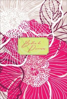 Biblia de Promesas Letra Grande Piel Especial Floral Moderno (Tapa Suave)