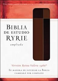 Biblia de Estudio Ryrie Ampliada Duo Tono Marrón (Tapa Suave)