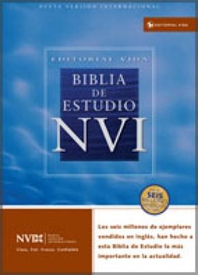 Biblia de Estudio NVI Imitación Piel Negro (Tapa Suave)
