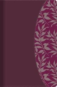 Biblia de Estudio para Mujeres Símil Piel Vino y Fucsia con Índice (Tapa Rustica)