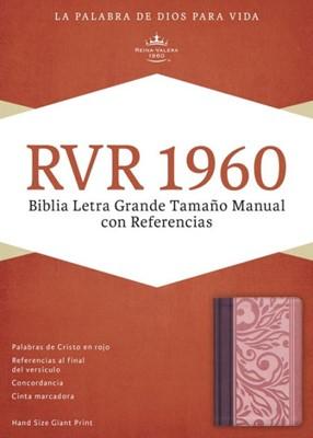 Biblia Letra Grande RVR60 Borravino y Rosado (Tapa Suave)