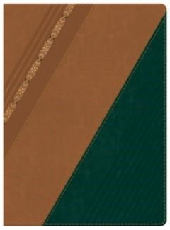 Biblia de Estudio Holman Castaño/Verde Símil Piel (Tapa Suave)