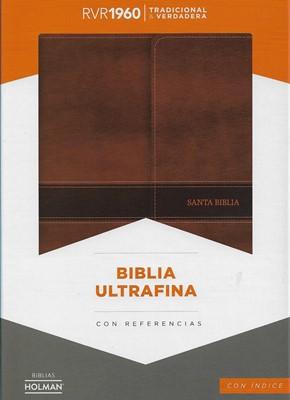Biblia Ultrafina con Solapa Símil Piel con Índice Marrón (Tapa Suave)