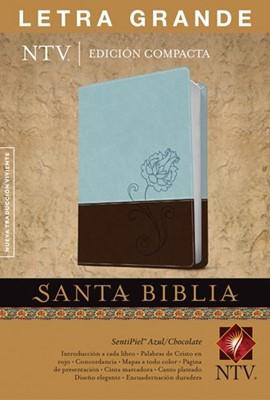 Biblia NTV Compacta SentiPiel Azul/Chocolate (Tapa Suave)