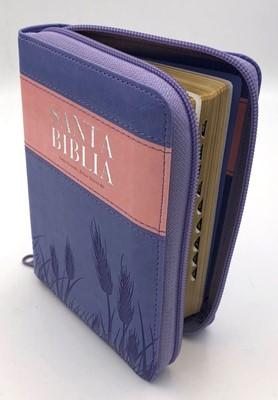 Biblia Reina Valera 1960 Compacta Cierre Índice Rosa y violeta (Tapa Suave)