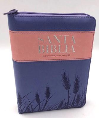 Biblia Reina Valera 1960 con cierre Rosa y violeta (Tapa Suave)