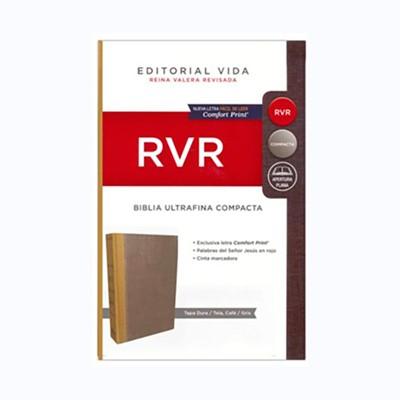 Biblia RVR Compacta TD Ocre/Gris (Tapa Dura)