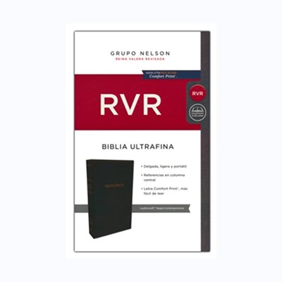 Biblia RVR Ultrafina Negro (Tapa Suave)