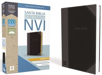 Biblia NVI Compacta Ultrafina Duotono (Tapa Suave)