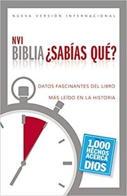 Biblia NVI Sabias Qué? 1000 Hechos acerca de Dios (Tapa Rustica)