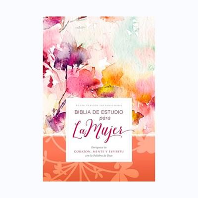 Biblia NVI de Estudio Para la Mujer TD Floral (Tapa Dura)