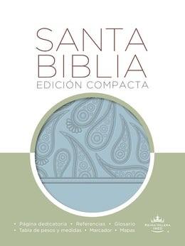 Biblia RVR60 Compacta Imitación Piel Celeste (Tapa Suave)