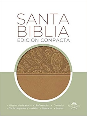 Biblia RVR60 Compacta Imitación Piel Marrón (Tapa Suave)