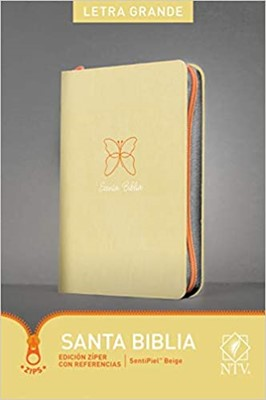 Biblia NTV Letra Grande con cierre Beige (Tapa Suave)