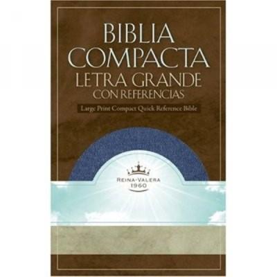 Biblia Compacta Letra Grande con Referencias (Blue Jean) [Biblia]