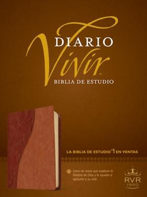 Biblia de Estudio Diario Vivir RVR 60 (Sentipiel Dos tonos) [Biblia]