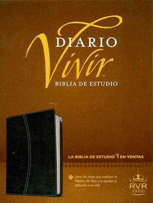 Biblia Estudio Diario Vivir RVR60 Piel Negro (Imitación Piel) [Biblia]