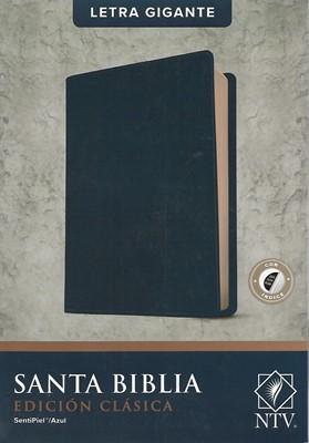 Biblia Letra Gigante NTV con Índice Azul (Tapa Suave)