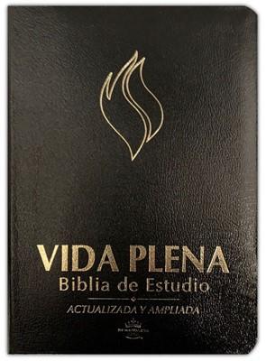 Biblia Vida Plena RVR60 Actualizada y Ampliada Cuero Negro (Tapa Suave)