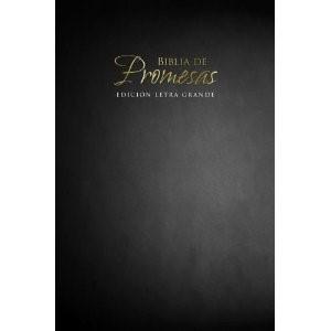 Biblia de Promesas Letra Grande Rústica Negra
