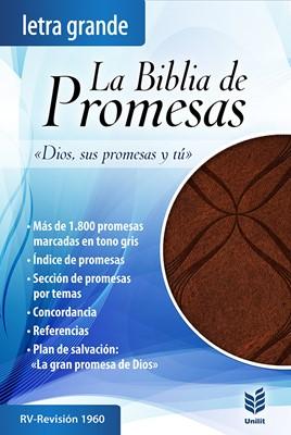 Biblia de Promesas Letra Grande (Piel especial café con detalles) [Biblia]