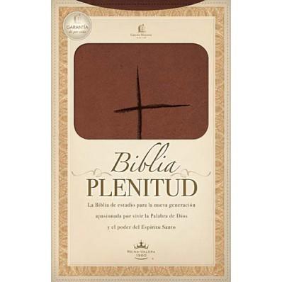 Biblia Estudio Plenitud RVR60 Piel Café Claro (Piel Italiana Dos Tonos, Terracota ) [Biblia]