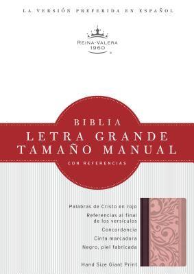 Biblia Letra Grande Imit. Piel Rosado/Borravino (Imitación piel)