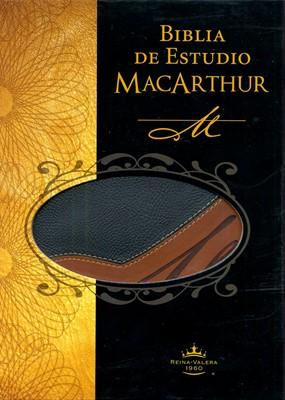 Biblia Estudio MacArthur Piel Dos Tonos (Imitación Piel) [Biblia]