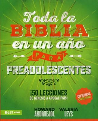 Toda la Biblia en un Año Para Preadolescentes (Tapa Rústica)