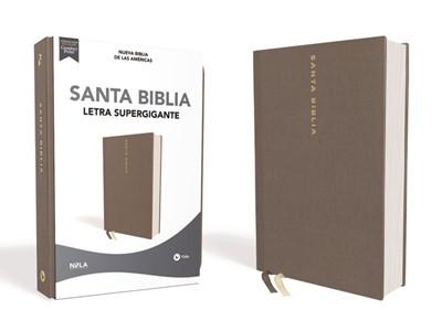 Biblia Nueva Biblia de las Américas Letra Súper Gigante Gris (Tapa Dura)