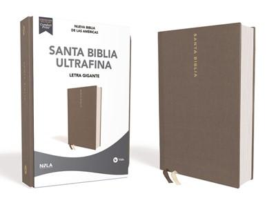 Biblia Nueva Biblia de las Américas Letra Gigante Gris (Tapa Dura)