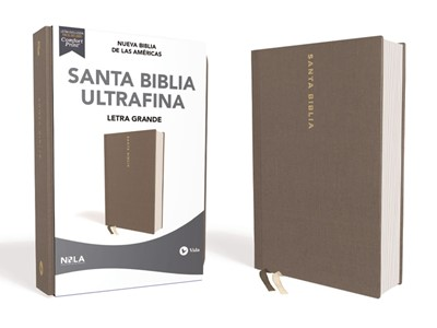 Biblia Nueva Biblia de las Américas Letra Grande Gris (Tapa Dura)
