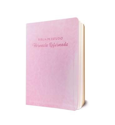 Biblia de Estudio Herencia Reformada Rosada (Tapa Suave)