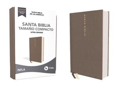 Biblia Nueva Biblia de las Américas Compacta Letra Grande Gris (Tapa Dura)