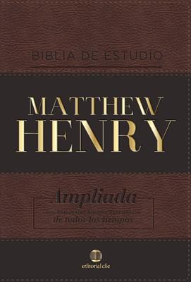 Biblia de Estudio Matthew Henry Símil Piel (Tapa Suave)