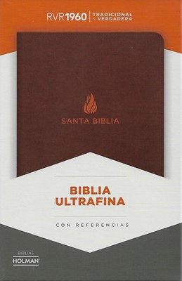 Biblia Ultrafina Piel Fabricada Marrón (Tapa Suave)