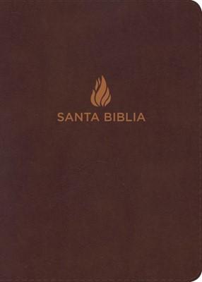BIblia Letra Gigante Piel Fabricada Marrón con Índice (Tapa Suave)