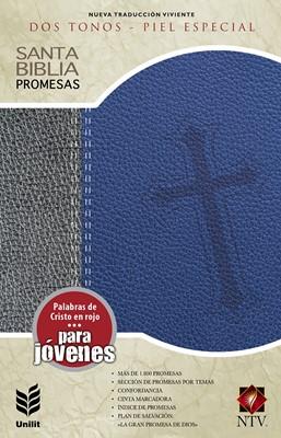 Biblia de Promesas NTV Gris y Azul (Tapa Suave)