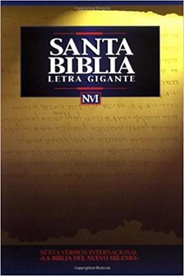 Biblia NVI Letra Gigante Imitación Piel Negro (Tapa Suave)