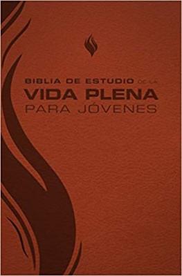 Biblia de Estudio Vida Plena Para Jóvenes Marrón (Tapa Suave)