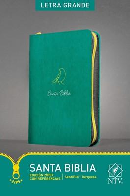 Biblia NTV Letra Grande con cierre Turquesa (Tapa Suave)