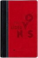 Biblia NVI Lideres de Jovenes Piel Negro/Rojo