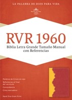 Biblia Letra Grande Simil Piel Ambar/Rojo