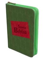 Biblia con Cierre Troquelada Verde/Rojo