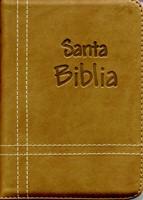 Biblia con Cierre Troquelada Café